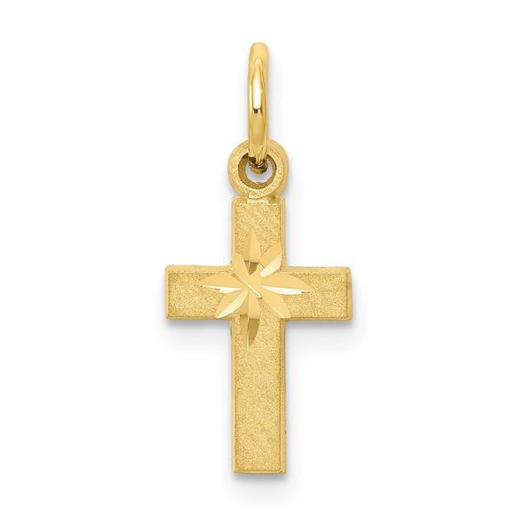 10k Yellow Gold Cross Charm 10C74