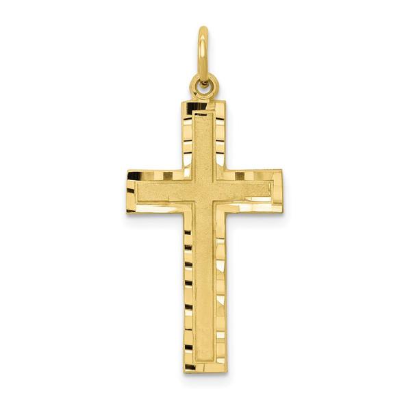 10k Yellow Gold Cross Charm 10C322