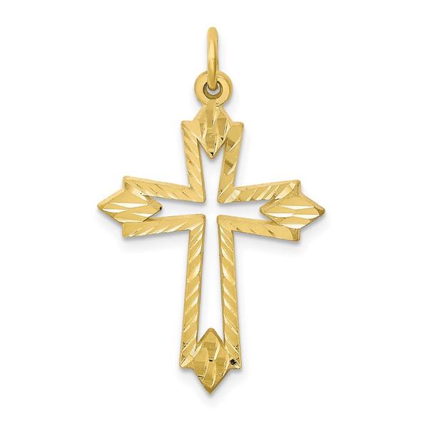 10k Yellow Gold Cross Charm 10C68