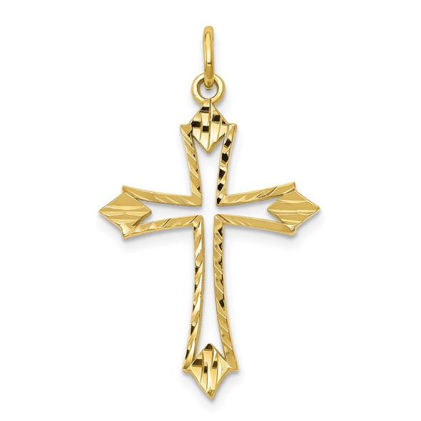 10k Yellow Gold Cross Charm 10C301