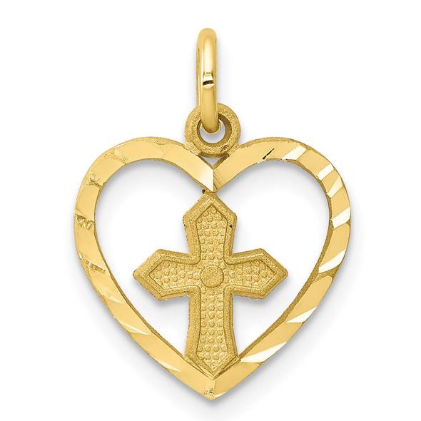 10k Yellow Gold Cross Charm 10C76