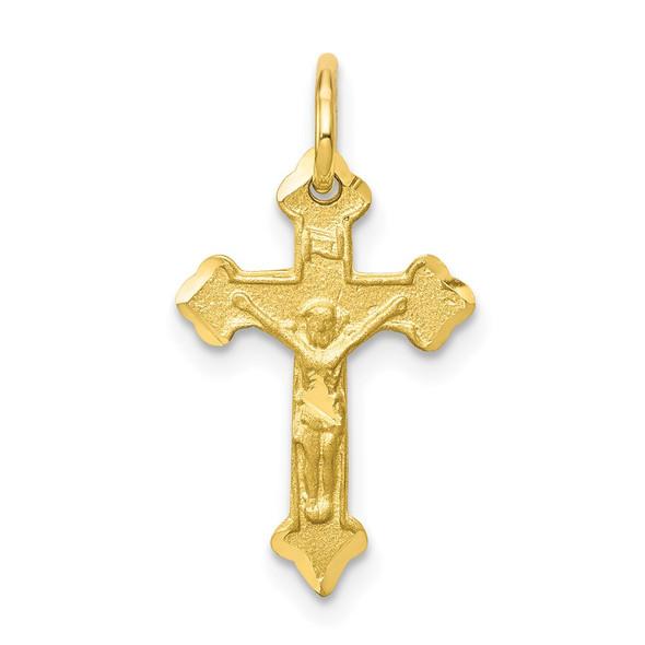 10k Yellow Gold Crucifix Charm 10C77