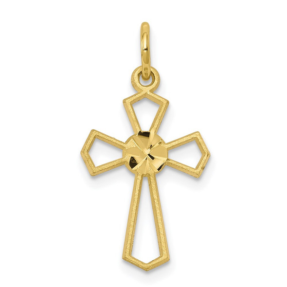10k Yellow Gold Cross Charm