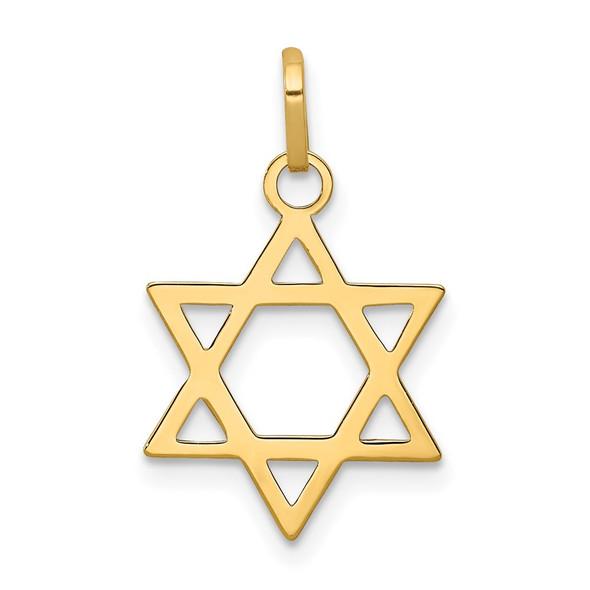 14k Yellow Gold Star Of David Charm XCH232