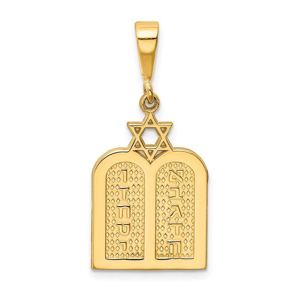 14k Yellow Gold Polished Torah w/Star Of David Charm