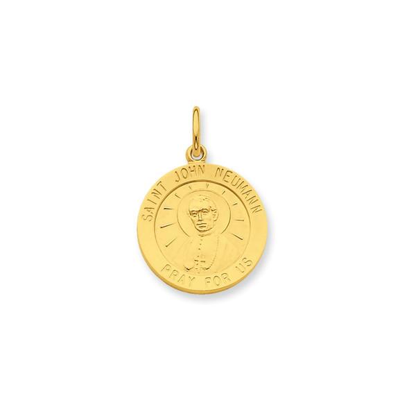 Gold-Plated Sterling Silver St. John Neuman Medal Charm