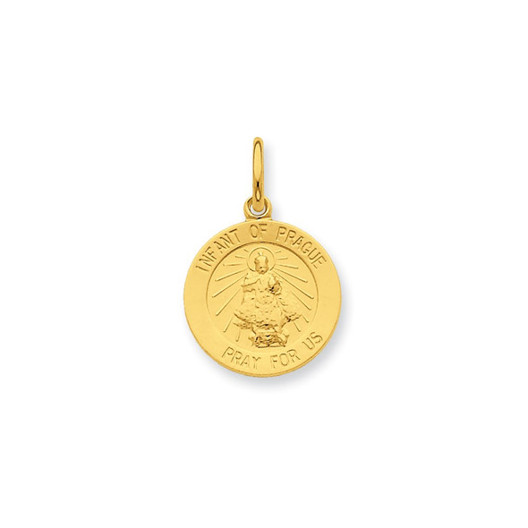 Gold-Plated Sterling Silver Saint Peter Medal Charm