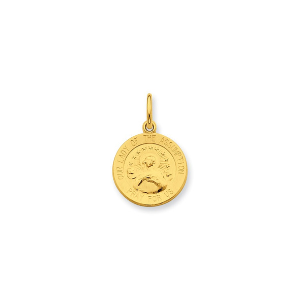Sterling Silver & Gold-plated Our Lady of the Assumption Medal Charm