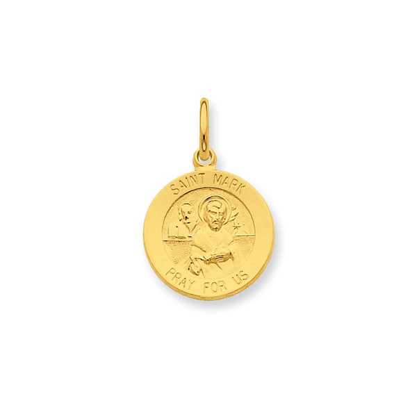 Gold-plated Sterling Silver Saint Mark Medal Charm QC5772