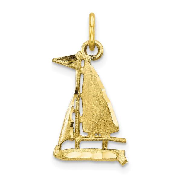 10k Yellow Gold Sailboat Charm