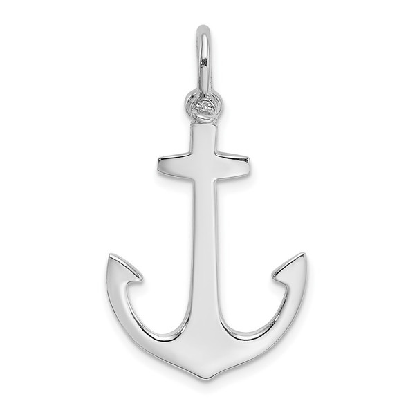 14k White Gold Polished 3-D Anchor Charm K7878W