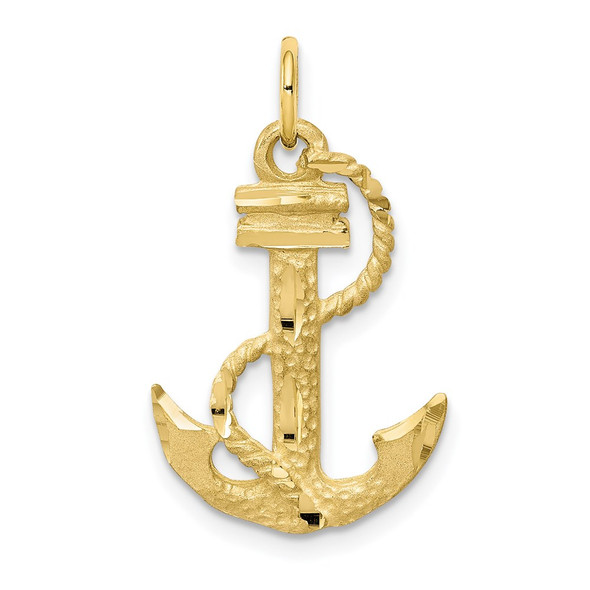 10k Yellow Gold Anchor Charm 10C565