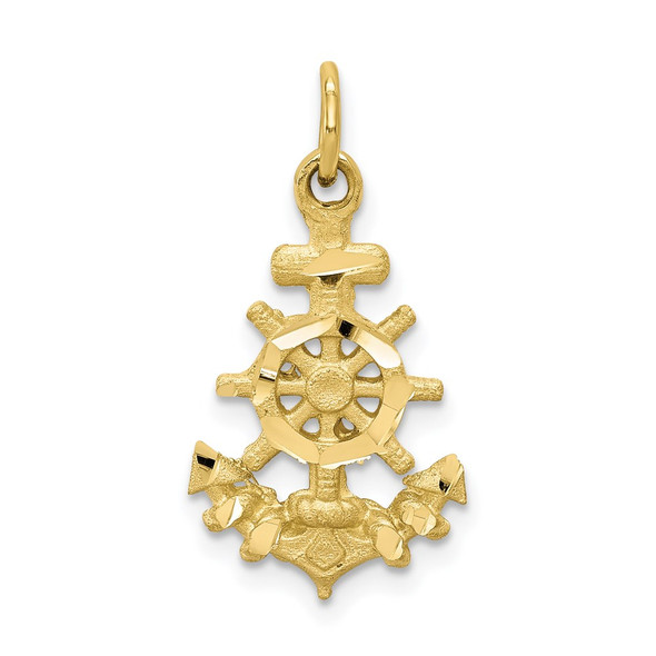 10k Yellow Gold Anchor Charm 10C564