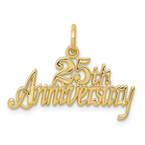 10k Yellow Gold 25Th Anniversary Charm