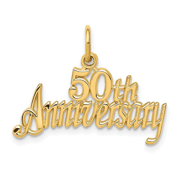 14k Yellow Gold 50th Anniversary Charm C288