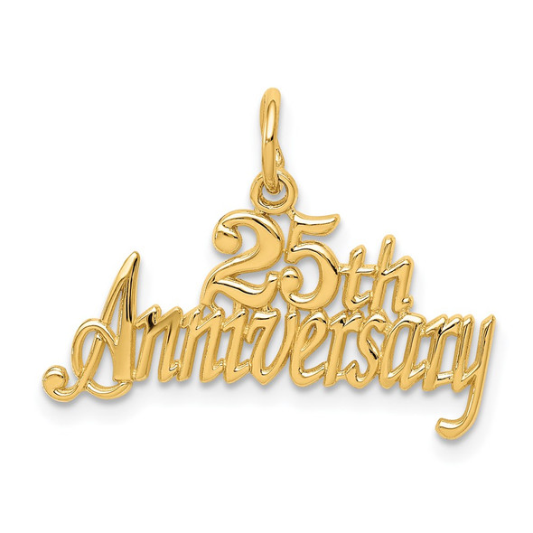 14k Yellow Gold 25th Anniversary Charm C287