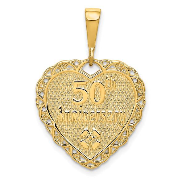 14k Yellow Gold Reversible 50th ANNIVERSARY Charm C1673