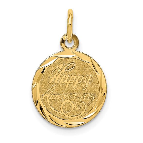 14k Yellow Gold Happy Anniversary Charm XAC568