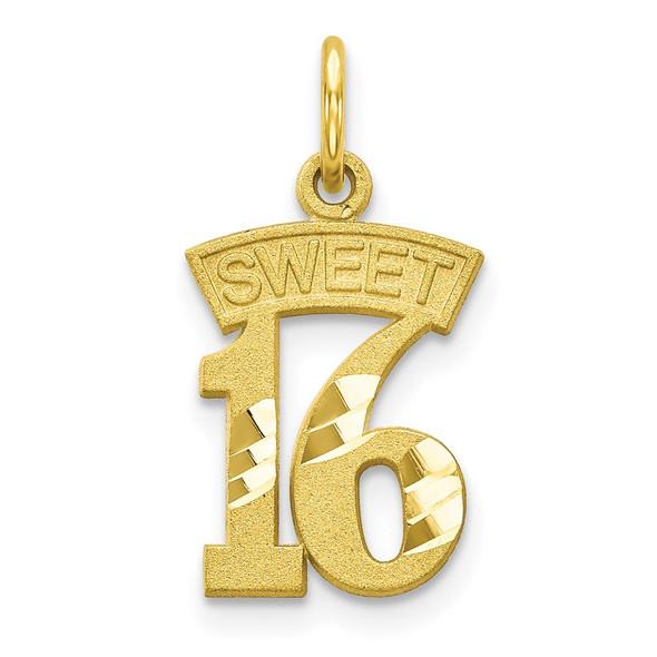 10k Yellow Gold Sweet 16 Charm 10C125