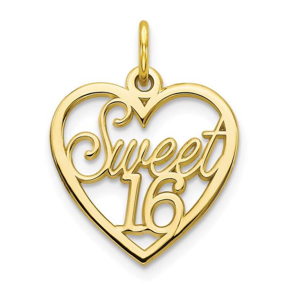 10k Yellow Gold Sweet 16 Charm 10C339