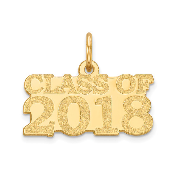 14k Yellow Gold Class Of 2018 Charm