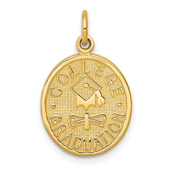 14k Yellow Gold College Graduation Charm