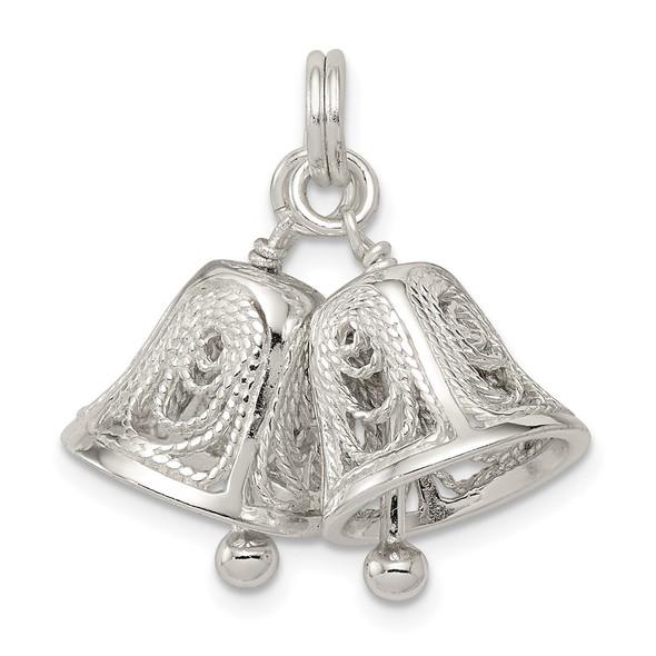 Sterling Silver Bells Charm