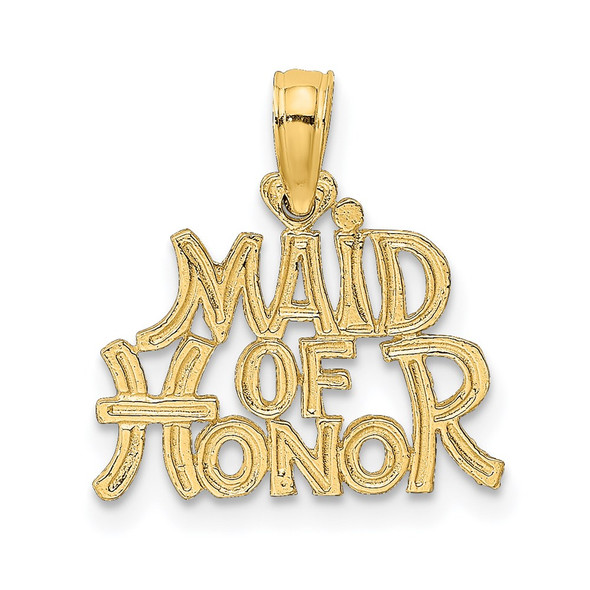 14k Yellow Gold Maid Of Honor Pendant