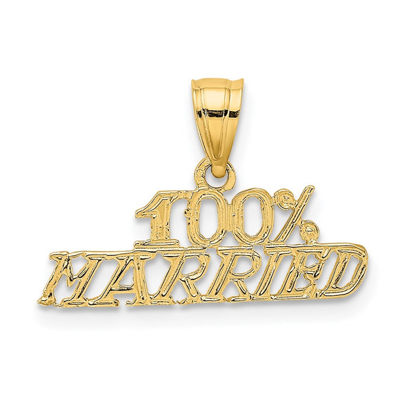 14k Yellow Gold 100% Married Pendant