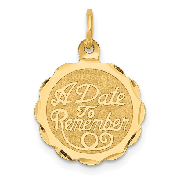14k Yellow Gold A Date To Remember Charm XAC16
