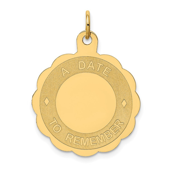 14k Yellow Gold A Date To Remember Charm XAC553