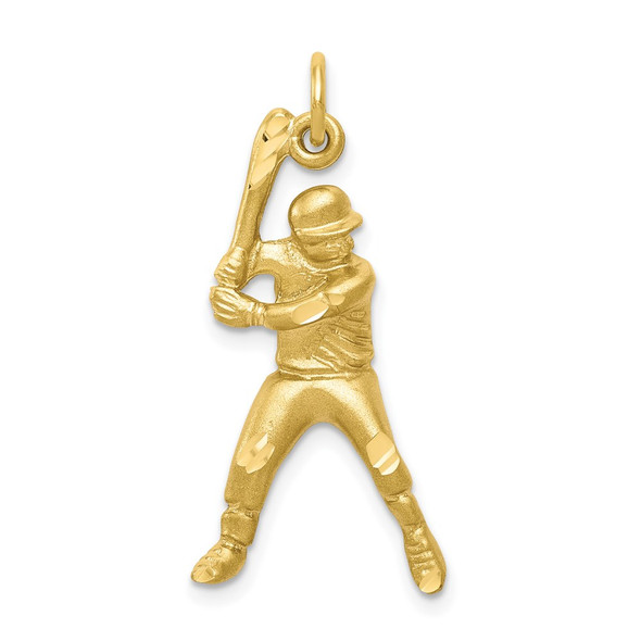 10k Yellow Gold Baseball Charm 10C179
