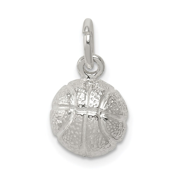 Sterling Silver Basketball Charm QC711