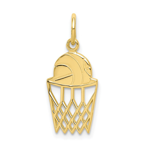 10k Yellow Gold Basketball Charm 10C182