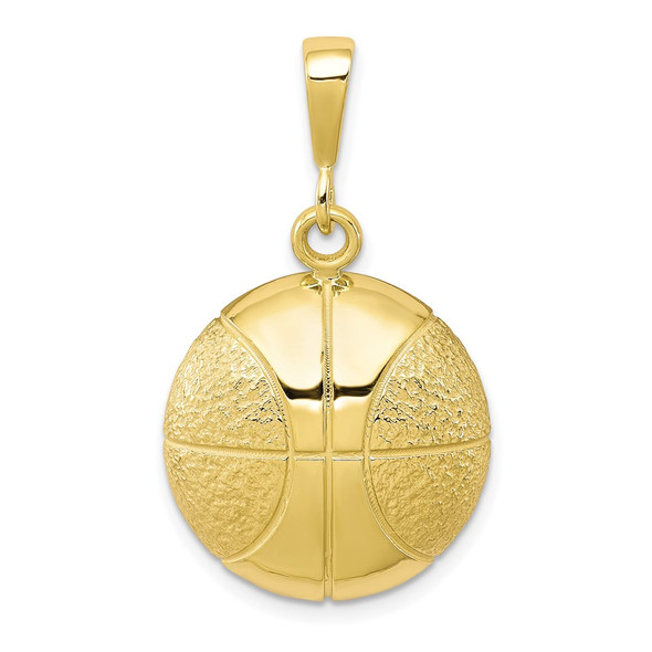 10k Yellow Gold Basketball Charm 10C185