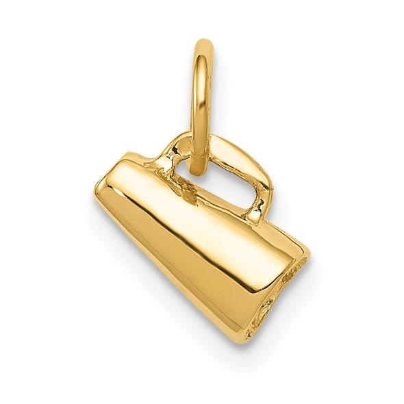 14k Yellow Gold 3D Megaphone Charm