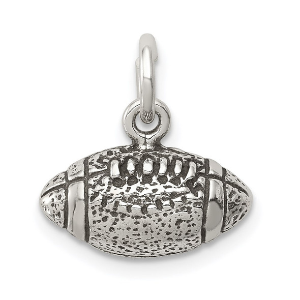 Sterling Silver Antiqued Football Charm QC7795