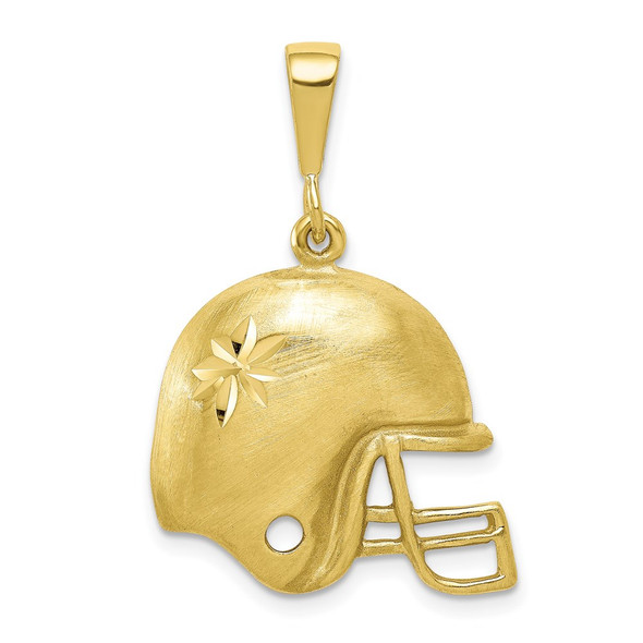 10k Yellow Gold Football Helmet Charm
