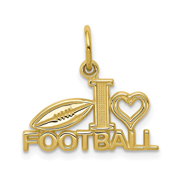 10k Yellow Gold Football Charm 10C149