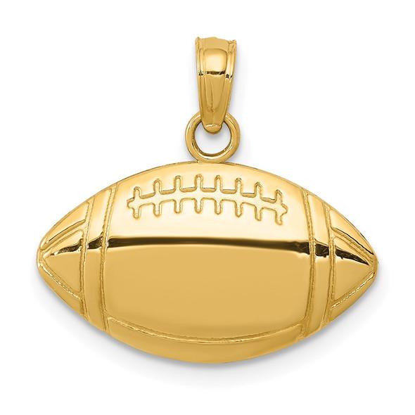 14k Yellow Gold Football Charm K4952