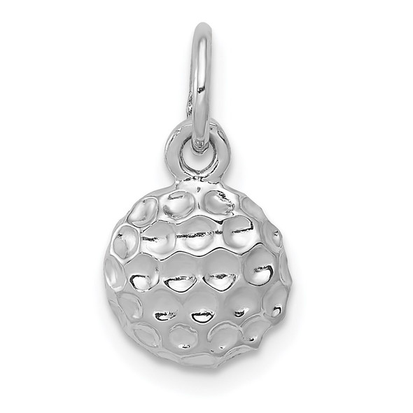 14K White Gold Golf Ball Charm