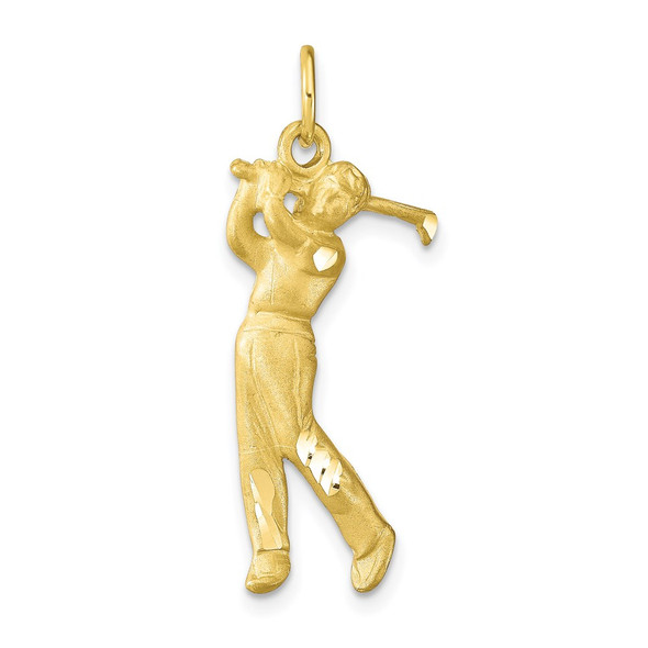 10k Yellow Gold Golfer Charm 10C169