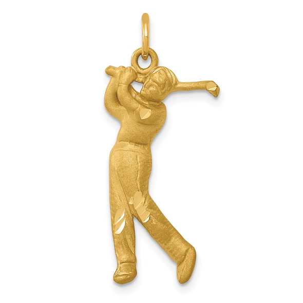 14k Yellow Gold Male Golfer Charm