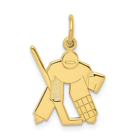 10k Yellow Gold Hockey Charm 10C183