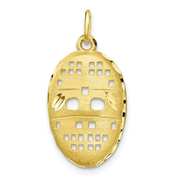 10k Yellow Gold Hockey Mask Charm