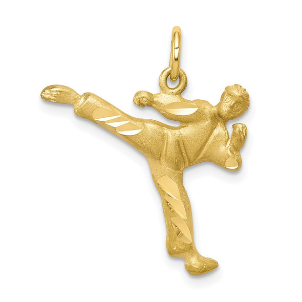 10k Yellow Gold Solid Karate Person Charm