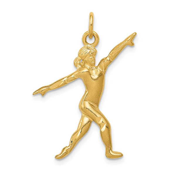 14k Yellow Gold Gymnast Charm