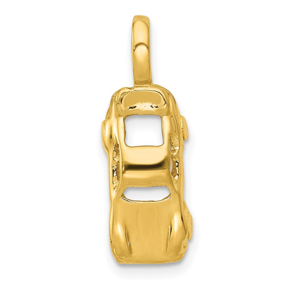 14k Yellow Gold 3D Sports Car Charm A9394