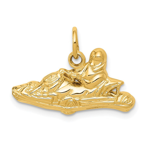 14k Yellow Gold Go-Kart Charm