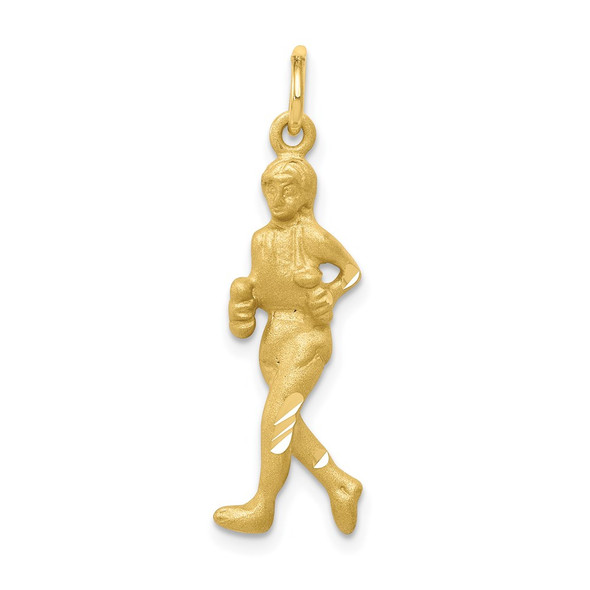 10k Yellow Gold Solid Runner Charm